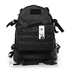 Backpack,HLHyperLink(TM) 40L Sport Outdoor Rucksacks Molle Assault Pack Military Armor Duffle Bag Purses Travelbag Hiking Daypack Tactical Travel Hiking Trekking Bag for Camping(Black)