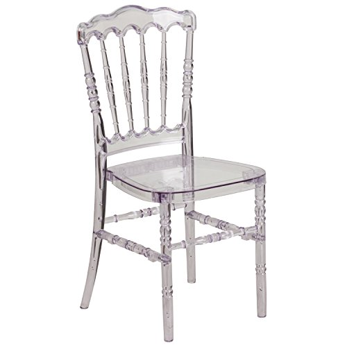 Flash Furniture Elegance Crystal Ice Stacking Napoleon Chair (Crystal Ice Weight compare prices)