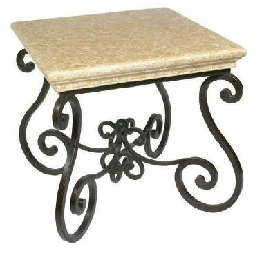 Cheap Estate Square End Table w/ Stone Top 29″ Sq. (B000TXPUW6)