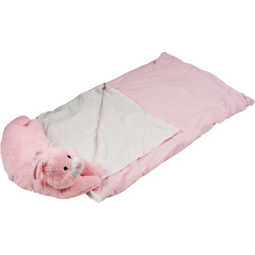 More image Happy Camper Kids Bunny Pet Pillow Sleeping Bag Combo