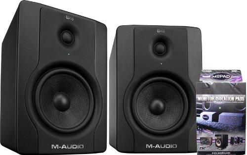 M-Audio Bx8 Pair Of Powered Studio Monitors W/ Mopads