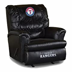 Buy MLB Texas Rangers Big Daddy Leather Recliner by Imperial