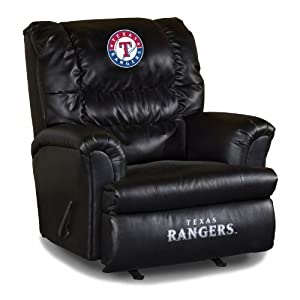MLB Texas Rangers Big Daddy Leather Recliner by Imperial