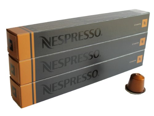 Purchase 30 Livanto Nespresso Capsules Espresso Lungo from Nestlé