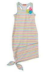 Kate Mack Girl's 7-16 Garden Stripe Dress