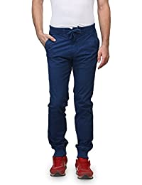 Wear Your Mind Blue Cotton Solid Jogger's For Men WTR016.2