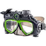 Liquid Image 305G XSC-Xtreme Sport Cams LIC Hydra Series 12MP Mask Waterproof Video Camera with 1-Inch LCD (Black/Green)