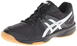 ASICS Women\'s Gel Upcourt Volleyball Shoe,Black/Silver,11.5 M US