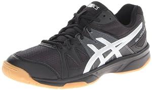 ASICS Women's Gel Upcourt Volleyball Shoe,Black/Silver,13 M US