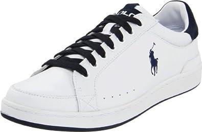 (史低)拉夫劳伦Polo Ralph Lauren Men's Talbert Sneaker真皮休闲鞋Navy$55.16