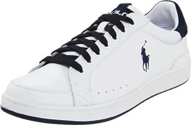 Polo Ralph Lauren Men's Talbert Sneaker,White/Navy,7 D US