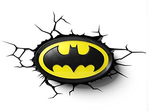 2D Light Fx 3DFX-BATL Batman Lampada LED con Timer e Touch, Plastica, Multicolore