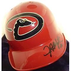 Justin Upton Arizona Diamondbacks Autographed Mini Helmet Braves JSA COA J 62193