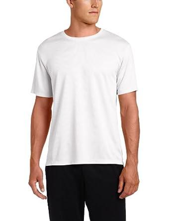 ASICS Men's Core Short Sleeve Shirt, White, Small