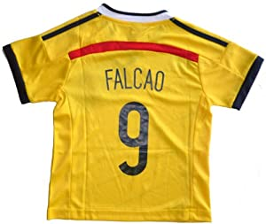 Buy 2014 COLOMBIA HOME FALCAO 9 FOOTBALL SOCCER KIDS JERSEY by FCF