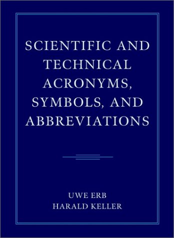 Scientific And Technical Acronyms, Symbols And Abbreviations