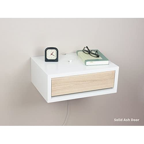 Contemporary Nightstand With Door, Floating Wall Mount Nightstand, Side  Table, Bedside Table