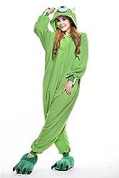 VU ROUL Adult Kigurumi Cosplay Costume Monsters University Mike Pyjamas