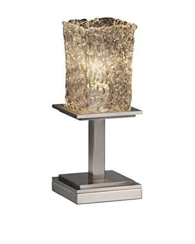 Justice Design Group Veneto Luce 1-Light Montana Table Lamp, Brushed Nickel