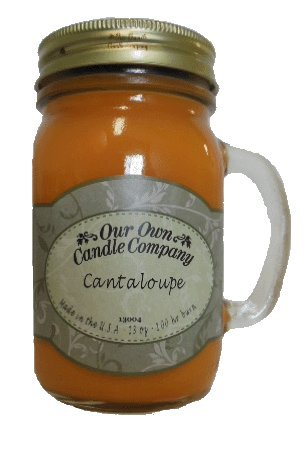 Cantaloupe 13 oz Mason Jar Candle (Our Own Candle Company) Made in USA - 100 hr burn time