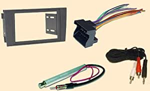 radio stereo install dash kit wire harness antenna adapter for audi a6 2000 2001