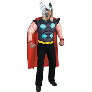 Amazon.com: Thor Muscle Top With Helmet Adult Costume ...
