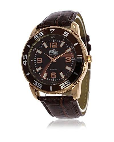 Pit Lane Uhr mit Miyota Uhrwerk Pl-3001-5 braun 40 mm
