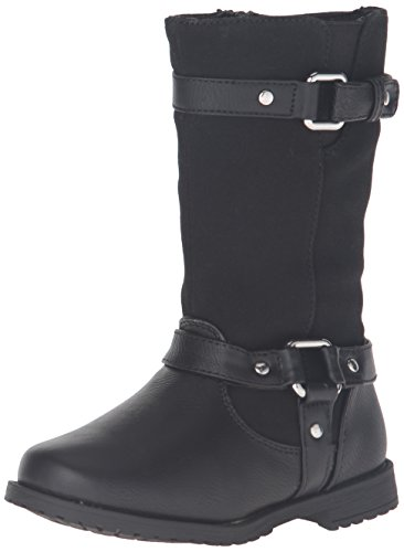 Rachel Shoes Girls' Lil Cortland Boot, Black Smooth, 6 M US Toddler (Shoes For A Lil Girl compare prices)