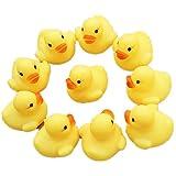Kleinkindspielzeug Longra 12 Gummi Ente Entchen Bad Baby Dusche Spielzeug Party Gefälligkeiten Spielzeug Gelb Ente