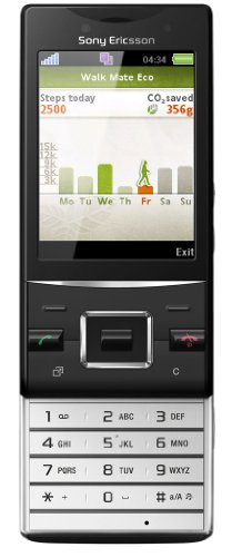 Sony Ericsson Hazel Handy (5 MP, UKW-Radio, Wlan, GreenHeart) superior black