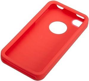 AmazonBasics Étui en silicone pour iPhone 4/4S Rouge
