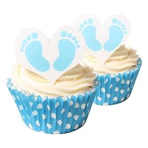 Edible Cake Decorations Boy : 12 Baby Boy Feet Edible Cake Decorations: Amazon.com ...