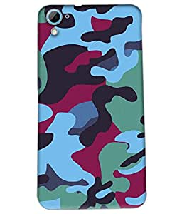 Fuson Millitary Pattern Back Case Cover for HTC DESIRE 826 - D3695