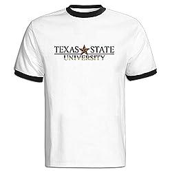 Gentleman FIHII Unique Texas State University Logo Color-blocking Teeshirt