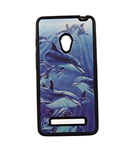 Blue Fish Exculsive 3D Design Rubberised Back Case Cover for Asus Zenfone 5 A500CG
