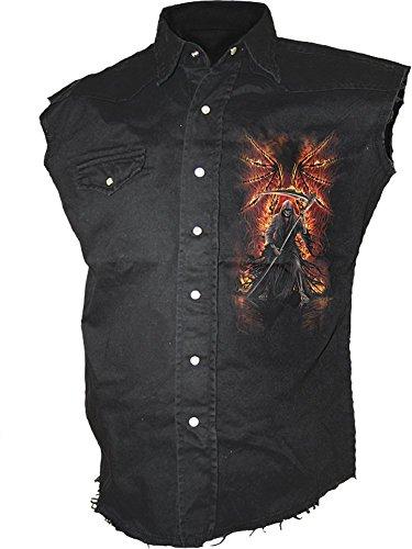 Spiral Flaming Death Worker Maglietta camicia GIACCA gilet - Unisex