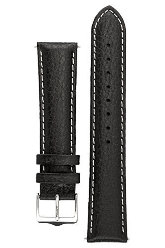 signature-buffalo-in-black-with-white-18-mm-s-watch-band-replacement-watch-strap-genuine-leather-sil