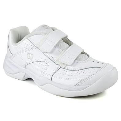 wilson advantage court iv velcro junior s white silver 3