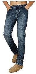 Dangerous Flyer Men's Slim Fit Jeans (DG-Q, Blue, 32
