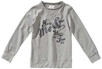 Tom Tailor - Sweat-Shirt - Fille - Gris (2482 ) - FR : 16 ans (Taille fabricant : 176)