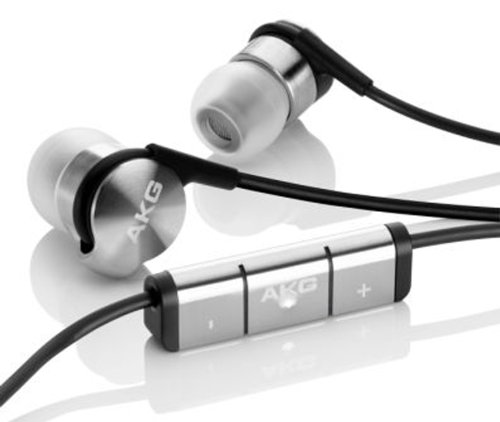 AKG K3003I Auricolari a 3 Vie con Tecnologia Ibrida Professionali, con Microfono/Telecomando Integrato e Adattatore Volo Compatibile con Smartphone Apple iOS, Argento