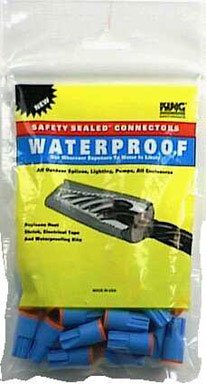 King Safety Products 62125 Waterproof Wire Connectors, Orange, 25-Pack
