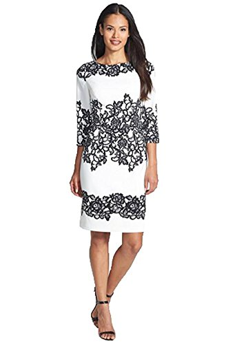 Ensasa Womens Sexy Floral Art Pattern Slim Bodycon Half sleeve Dress,Medium