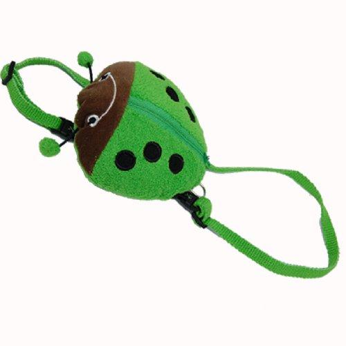 Ladybird Pattern Pet Dog Cat Carrier Backpack Knapsack Pack Green