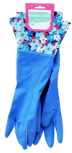 キッチングローブ フラワー ブルー