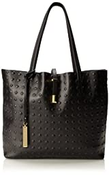 Vince Camuto Leila Travel Tote,Caviar,One Size
