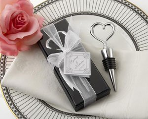 Kate Aspen Chrome Heart Bottle Stopper