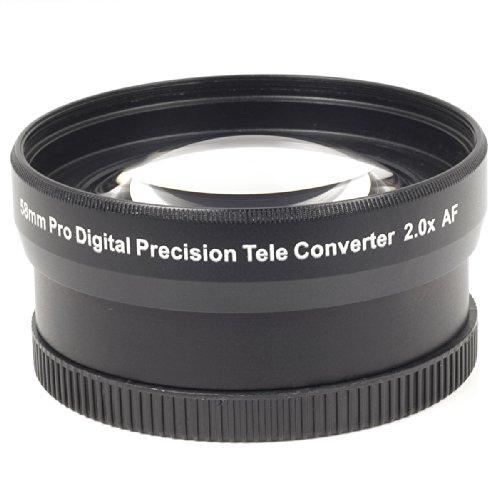 lesilverskys (TM) 2x Tele Rallonge pour objectif 58mm pour Canon EOS 350D 400D 500D Rebel Xti DV Vidéo LF38