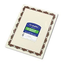 Parchment Paper Certificates, 8-1/2 x 11, Red Crown Border, 50/Pack, Sold as 1 Package, 50 Each per Package
