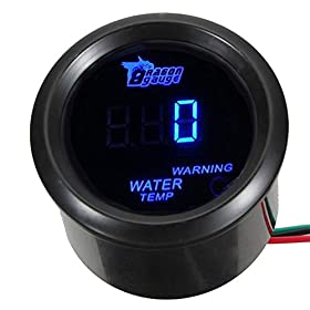 "E Support Car 2"" 52mm Digital Water Temp Gauge Blue LED"
